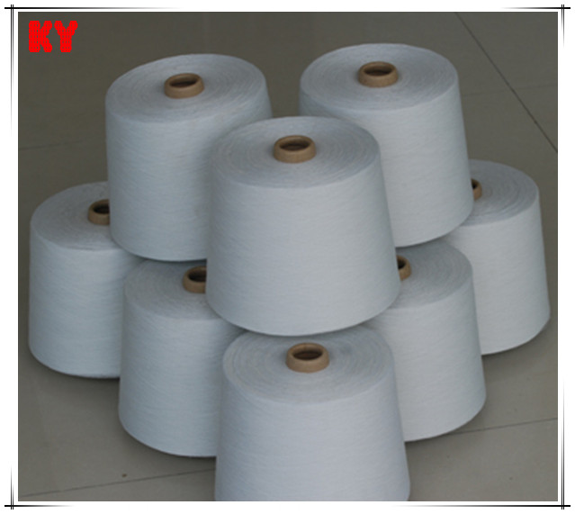 raw white polyester /cotton yarn