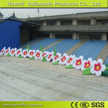 professional best manufacturers indian rose inflatable chain flowers for event decoration