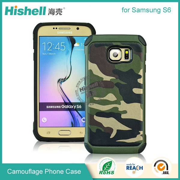 Alibaba wholesaler soft TPU protector camouflage case for Samsung S6
