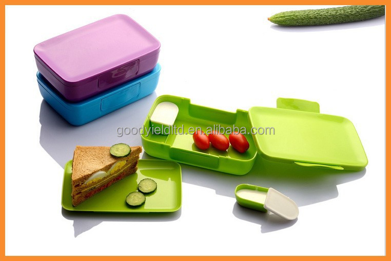 2015 new plastic food container with inside box