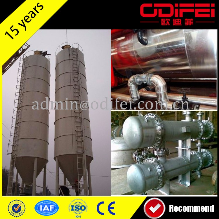 10 Tons black oil refining made in China