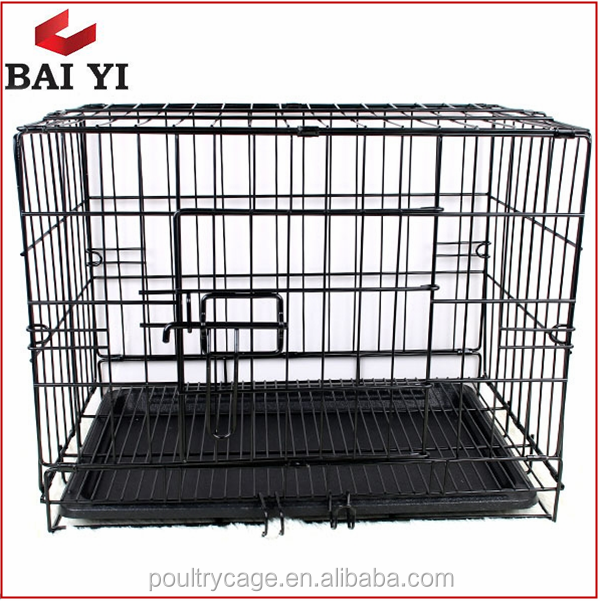 Metal Dog Cage House And General Cage Slant Front Collapsible Dog Crate