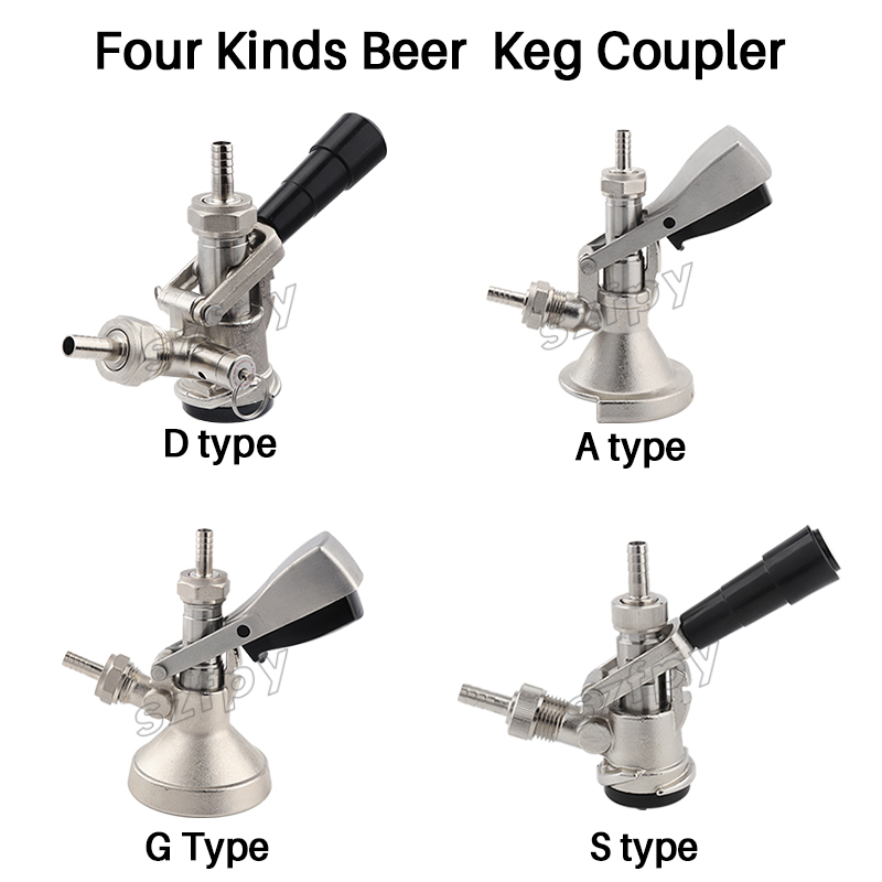 Beer Keg Coupler D Type System with Safety Pressure Relief Valve for US Domestic Sankey Keg Hot Selling