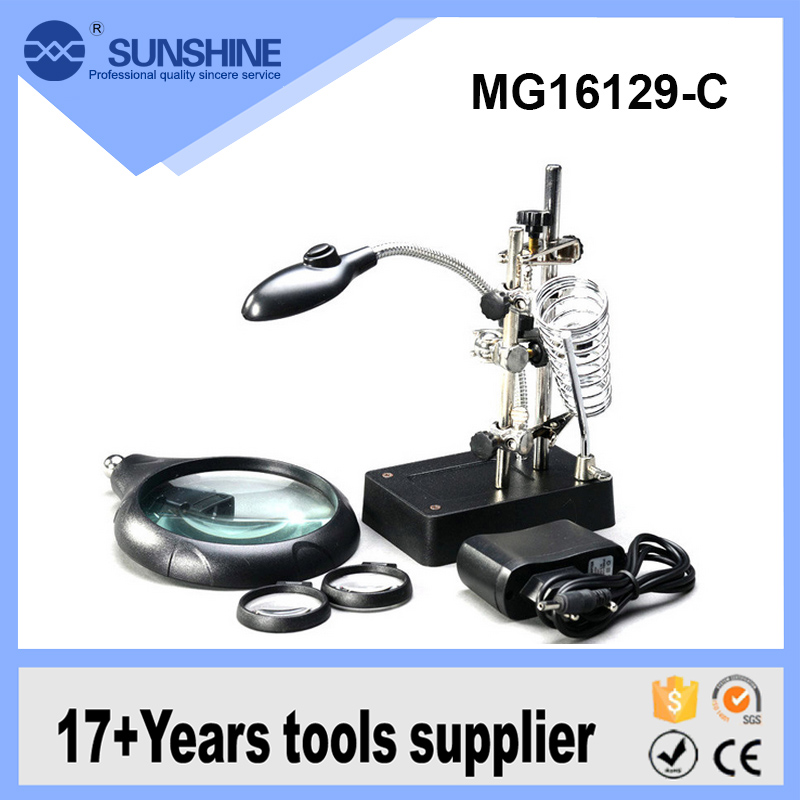 Medical Magnifying Glasses Lighted Factory Magnifier Led Lamp Industrial Portable Floor Stand Magnifying Glass And Lamp