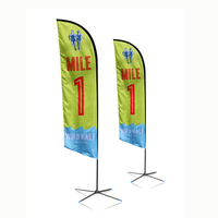 outdoor display large outdoor feather flags printing, banners feather beach flag
