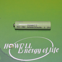 AAA Size Rechargeable Battery 600mAh NiMH 1.2V High Top Cell