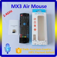 Remote control for android tv box MX3 fly air mouse support OEM arabic keyboard