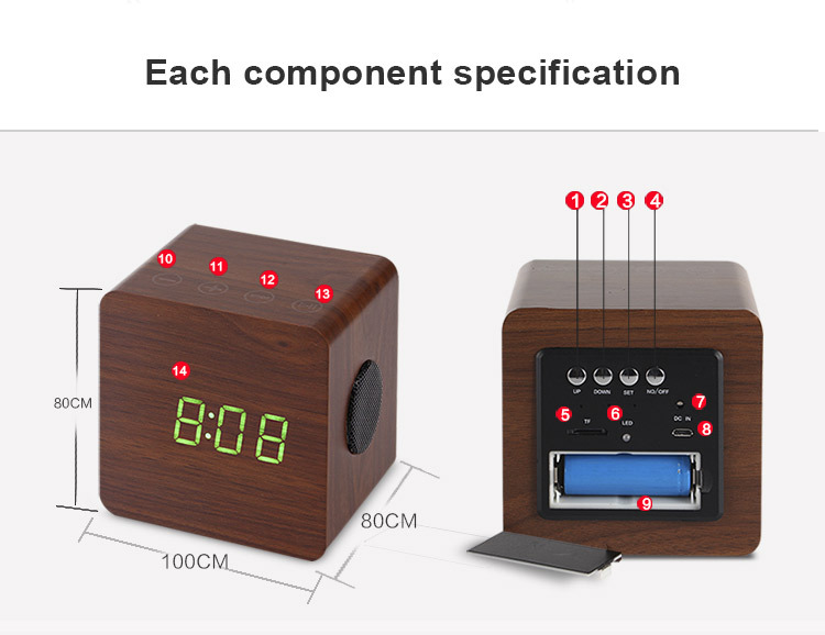 Best quality 1500mAh Wooden new gadgets 2016 bluetooth speaker