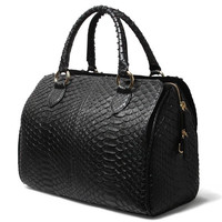 Genuine Python Snake Leather Handbag Long strap Tote Bag Crossbody Sling Bag