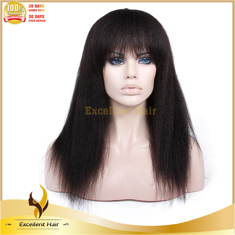 Alibaba express china 100 virgin remy hair natural color kinky straight wig