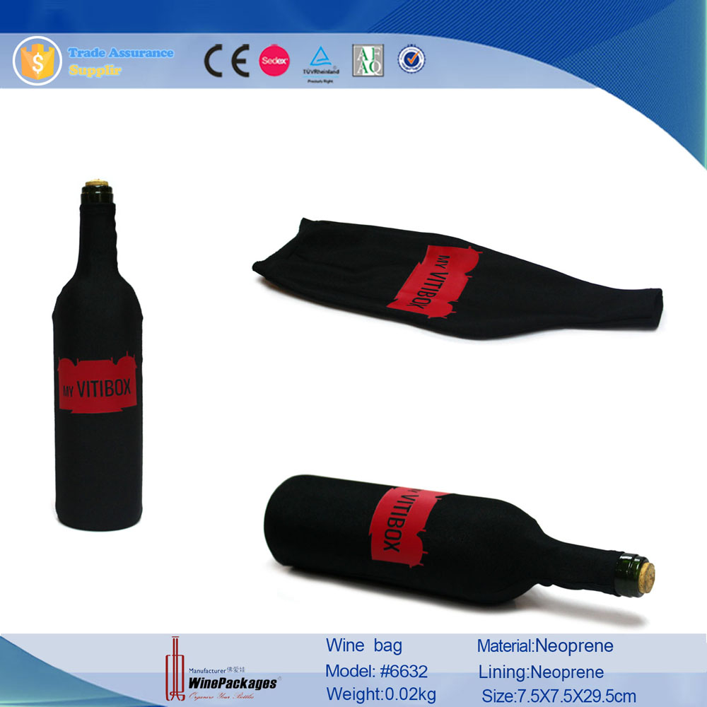 recycled single bottle neoprene wholesale wine bag/carrier