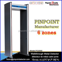 Pinpoint factory level high sensitvity walk through archway door usage security metal detector gate