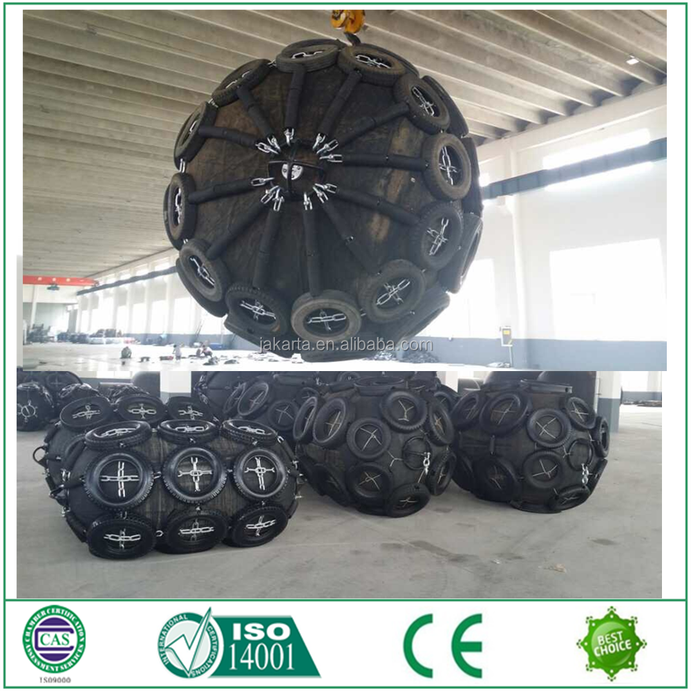 chinese supplierTop Brand Cylindrical Tug boat marine rubber fender with Galvanized Chain