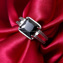 Fashionable Zircon Cubic Micro Pave Czech Crystal Men Ring Size 7.8.9