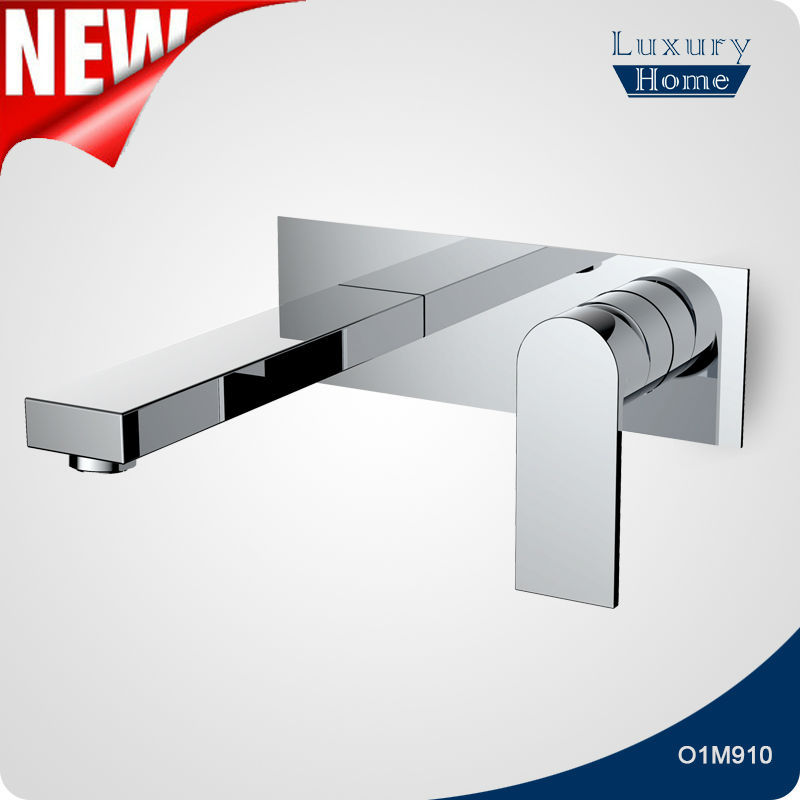 Chrome Plated Brass wall mount basin tap mixers