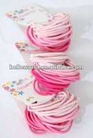 36pcs Pink Mix Elastic Ponytail Holders
