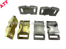 "2013 newest design 3/8""-1"" metal curved buckles for dog collars"