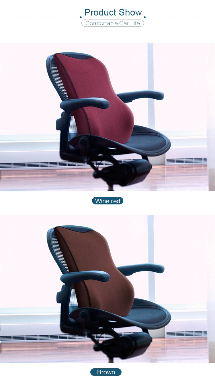 BYC Guangzhou Memory Foam Office Chair Back Support Pillow