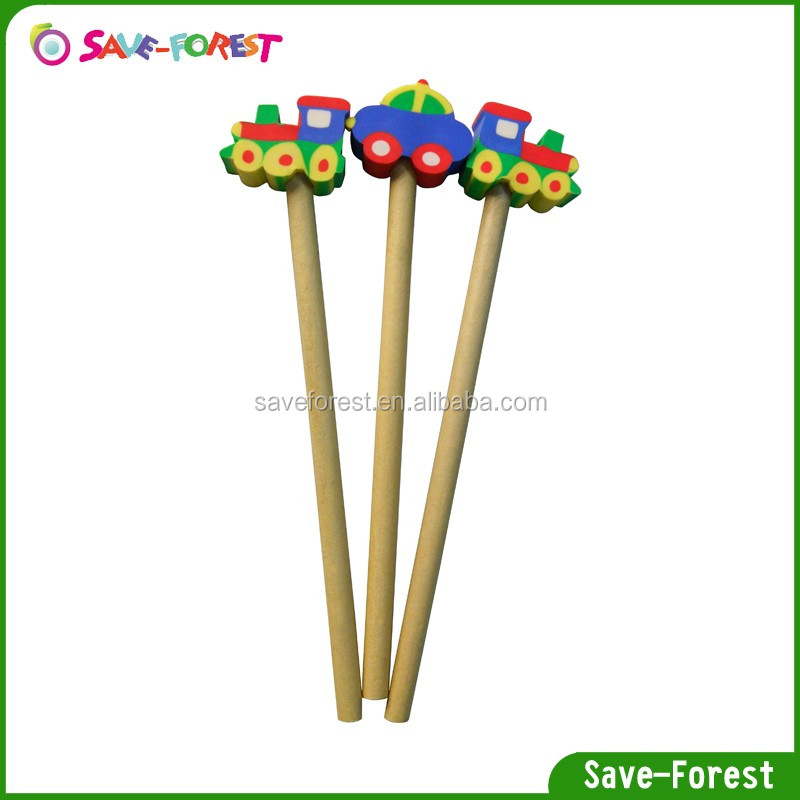 Design for kids gift kids toy pencil fun eraser with pencil