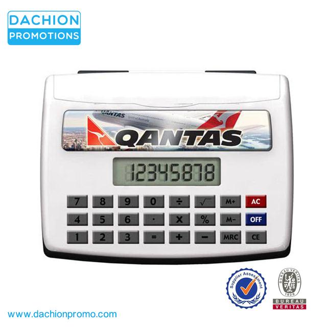 Promotional Desktop Calculator With Business Card Holder