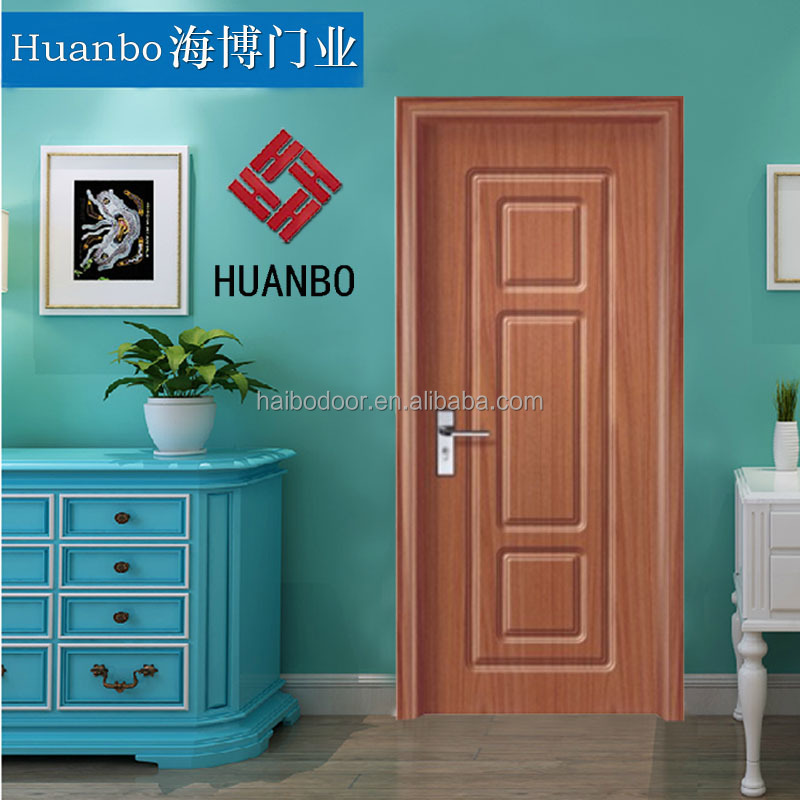new style model security wooden interior doors with pvc coating