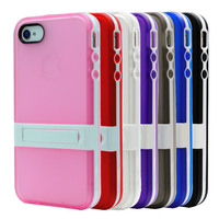 Newest 2 in 1 Shockproof Cell phone Case for Apple iphone Phone Hard Back Cover