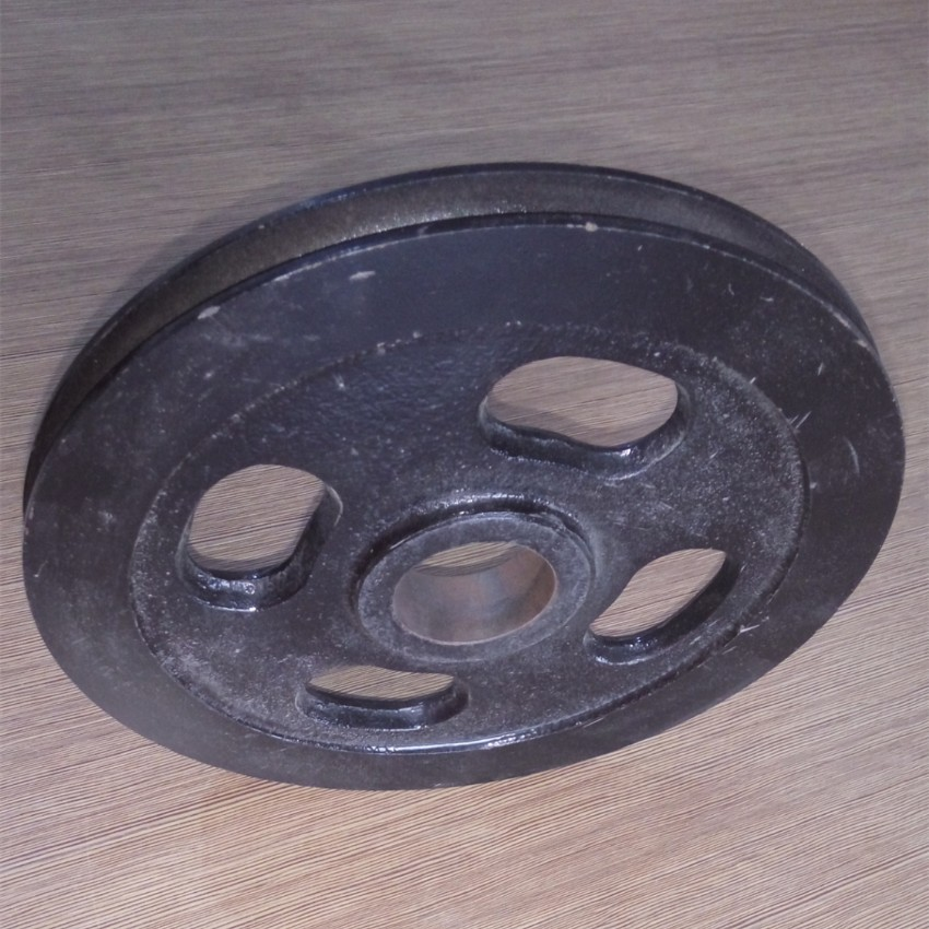 Crank Steel 230mm Round Belt Pulley Sheaves With Four Holes