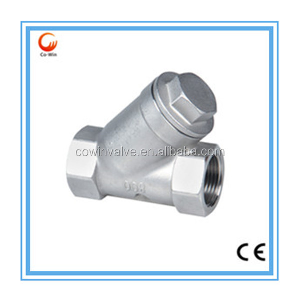 Cangzhou stainless steel light-duty type Y Spring Threaded check valve