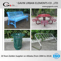 17 years manufacturing experience park furniture metal outdoor furniture China outdoor bench/dustbin/picnic table/bicycle rack