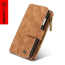 Amazon Hot Selling CaseMe for iphone 6s 7 8 plus case Wallet Leather Latest 5g mobile phone case