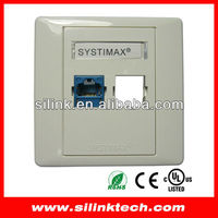 Systimax network face plate for cat5e/cat6