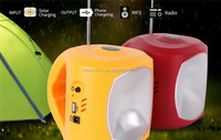 Solar Power Rechargeable Solar LED Lantern With USB For Mobile Charge
