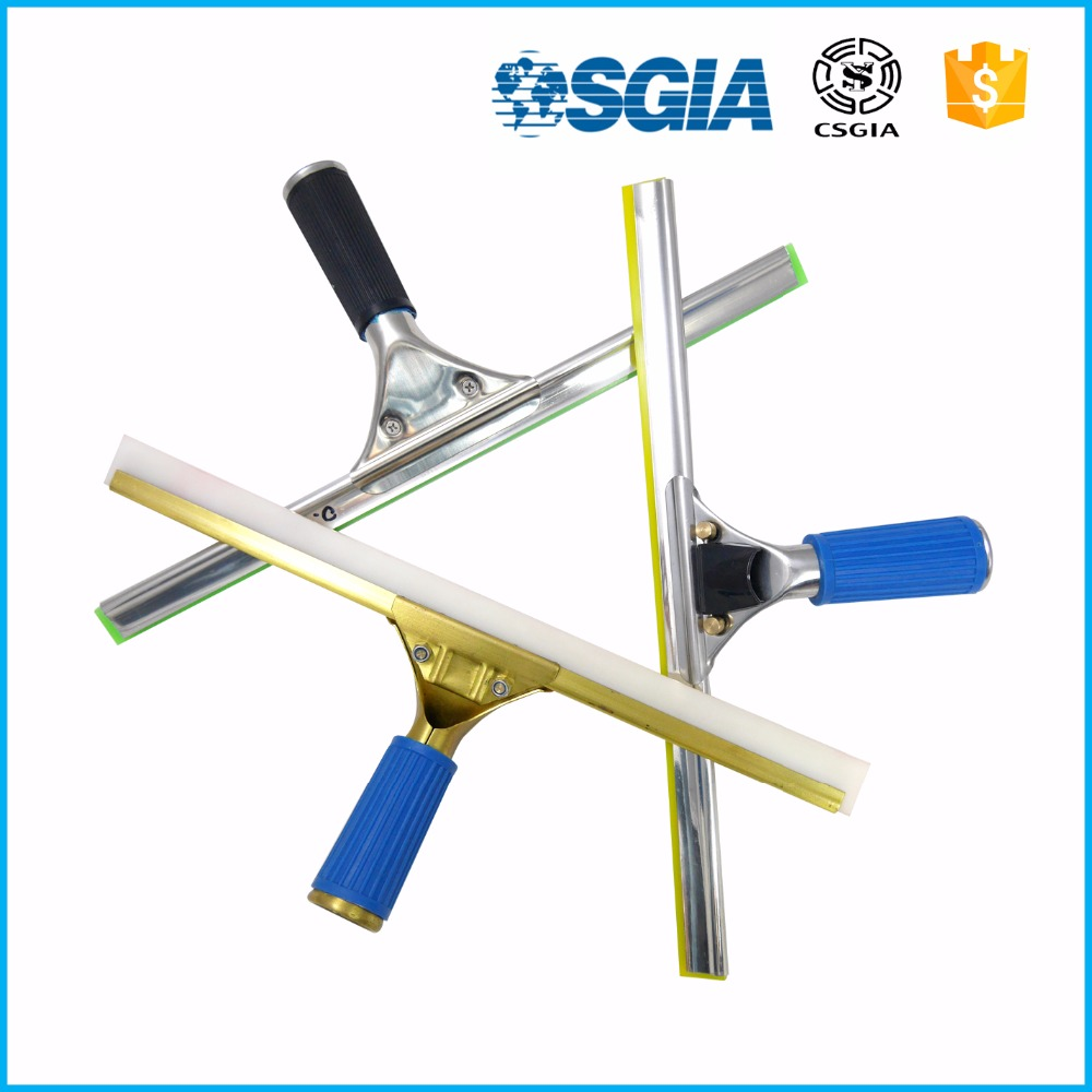 Water blade with telescopic pole/spray window squeegee
