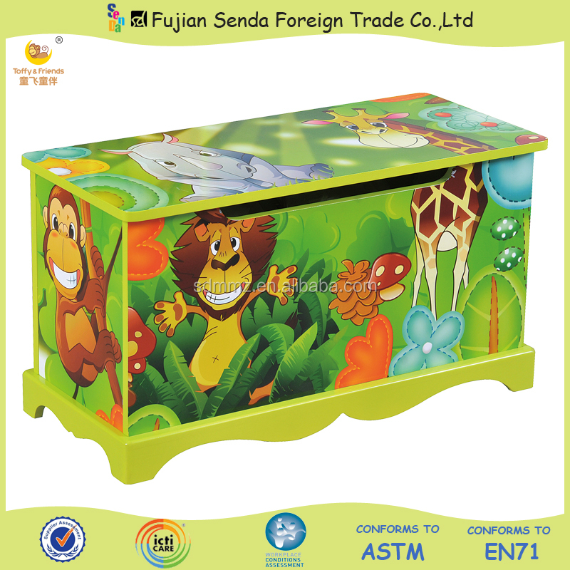 HOT SALE Wood Kid Toy Box Small Toy Cabinet