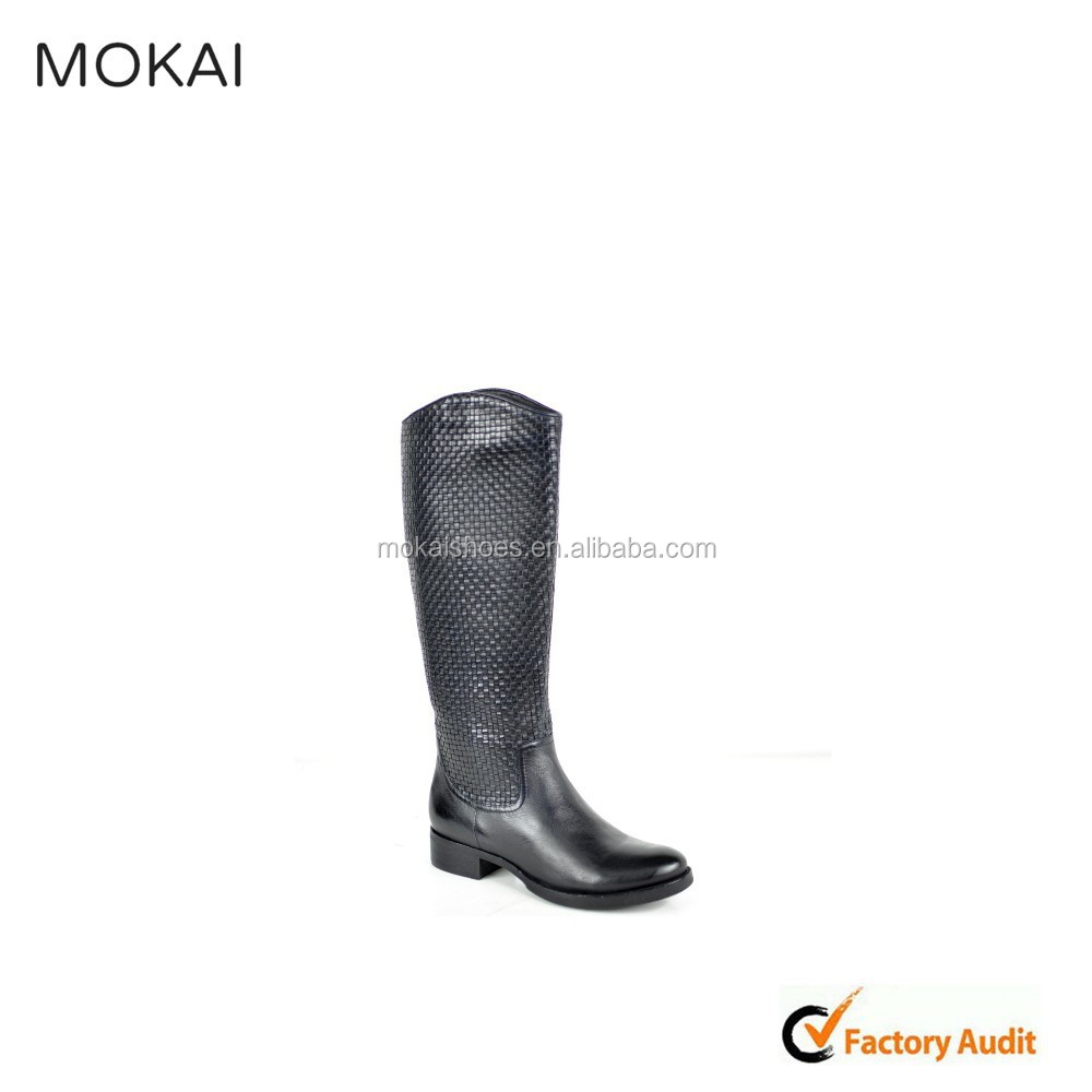 MK25-15 handmade leather shoes women boots winter