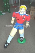 inflatable soccer player famous inflatable football men PVC air sport man inflatable football player model