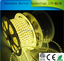 50meters/roll CE&RoHS ETL led strip factory price smd wholesale 60led/m 3528&5050 flexible led strip high voltage cable 220v