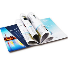 custom factory print staple binding book for real estate agency saddle stitch book