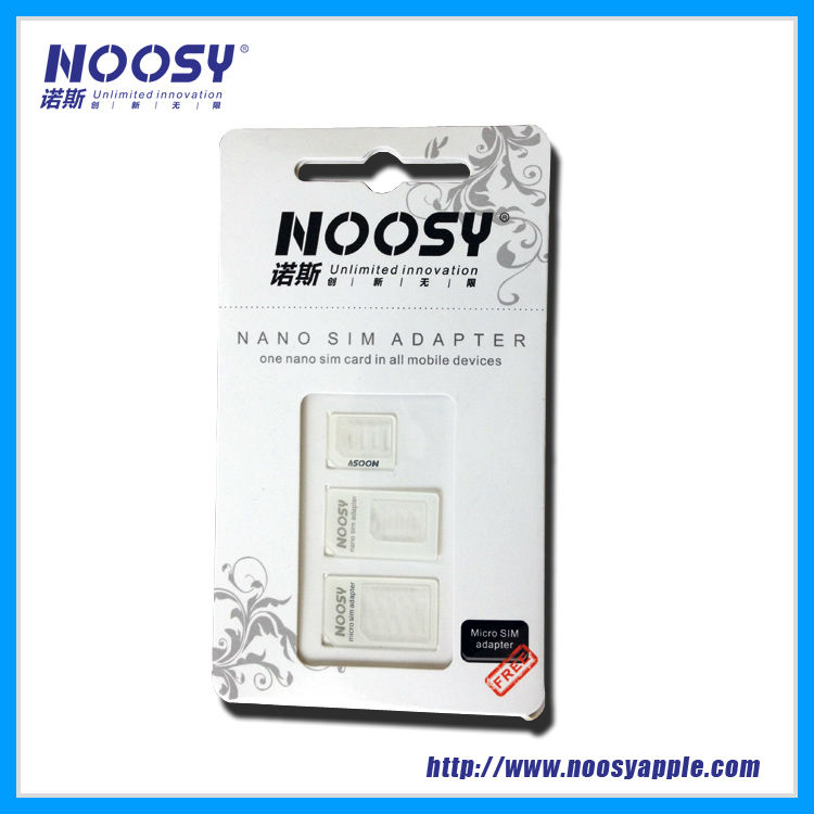 hot selling products Noosy high quality Micro Nano sim card adapter for tablet