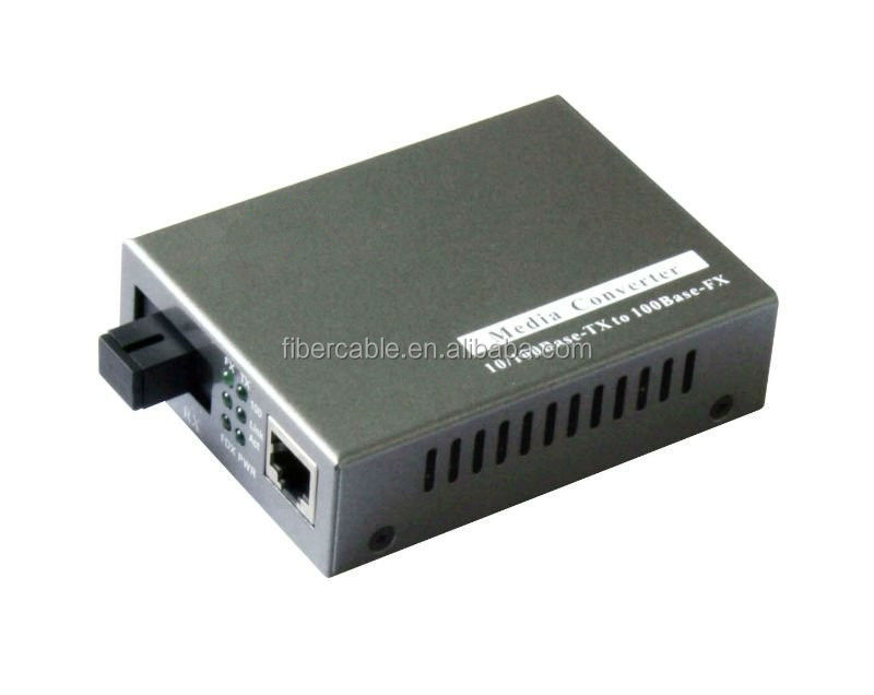 Supply fiber optic media converter rj45 sc connector in 10/100/1000mbps