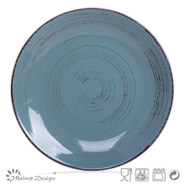 Wholesale Ceramic Color Glaze Antique Finish Dinner Plates Buy 10 5 Ceramic