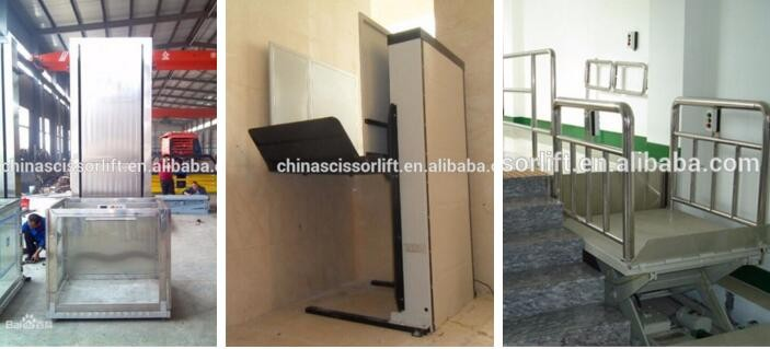 1.5M hydraulic vertical wheelchair lift indoor