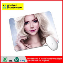 Custom design flexible rubber mouse mat, printing company logo rubber gaming photo insert mouse pad