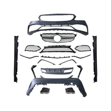 GBT facelift body kit for 2014-2017 front&rear bumper and air-inlet grille for Mercedes-benz AMG C63 W205 Model
