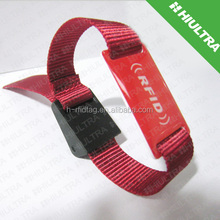 Factory Price festivel fabric RFID wristband with nfc tag -Ntag 203 chip