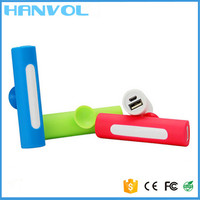 Portable PVC/ Silicone mobile power bank/mobile power supply 2600mah