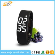2016 USB Pedometer Watch Silicone W2 Smart Wrist Bracelet Watch