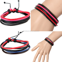New Products European Hot Sale Multi-strand Korea Cotton Wax Cord Bracelets