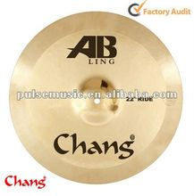 "Chang AB Ling jazz drum set cymbal 22"" Ride Cymbal"