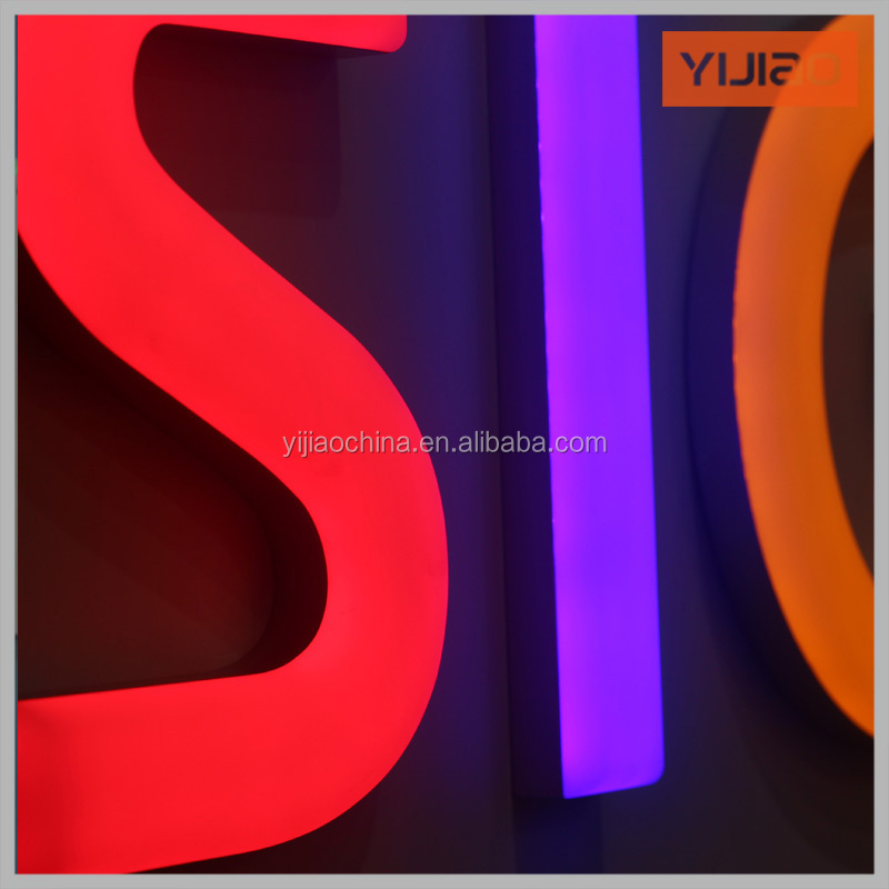 injection molded led frontlit Plastic letters with factory price